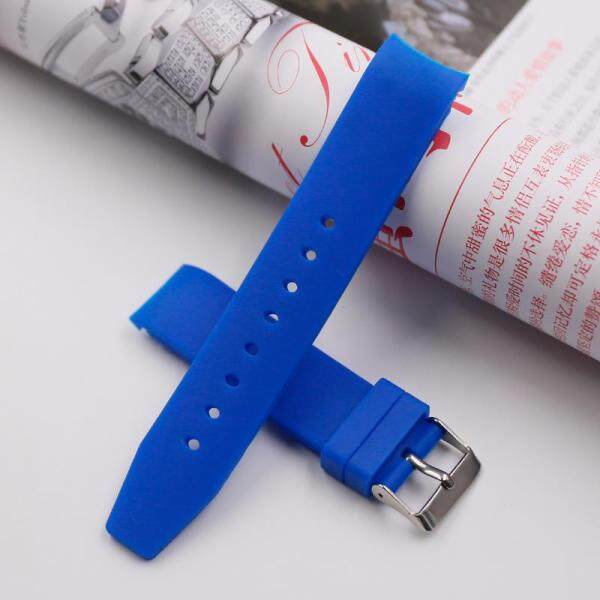 Accessories Silicone Watch Strap Natural 20 Mm Pin Buckle Rubber Watch Band Elbow Curved Watch Bracelet Suitable Outdoor Brand Watch Malaysia