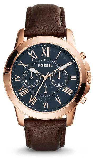 Fossil FS5068 Grant Brown Leather Analog Chronograph Men Casual Watch Malaysia