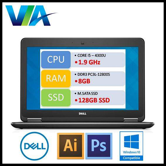 Refurb Dell Vostro E7240 Ultrabook~Core i5~8Gb~128Gb SSD~Win10 Malaysia