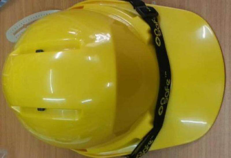 PRC WHITE YELLOW SAFETY HELMET ONSAFE WITH SIRIM