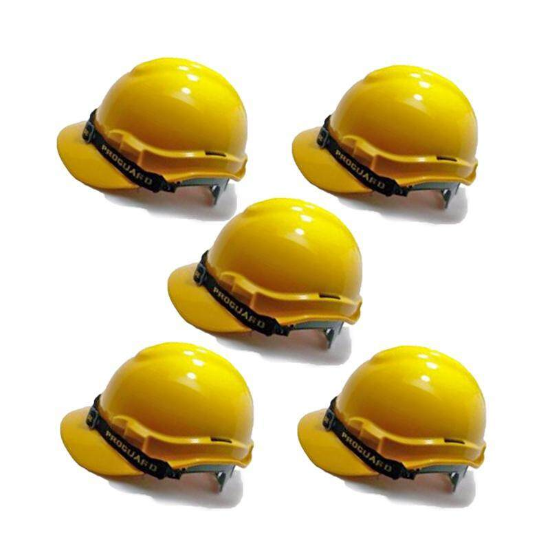 EzSpace 5pcs Proguard Yellow Safety Helmet Sirim Certified