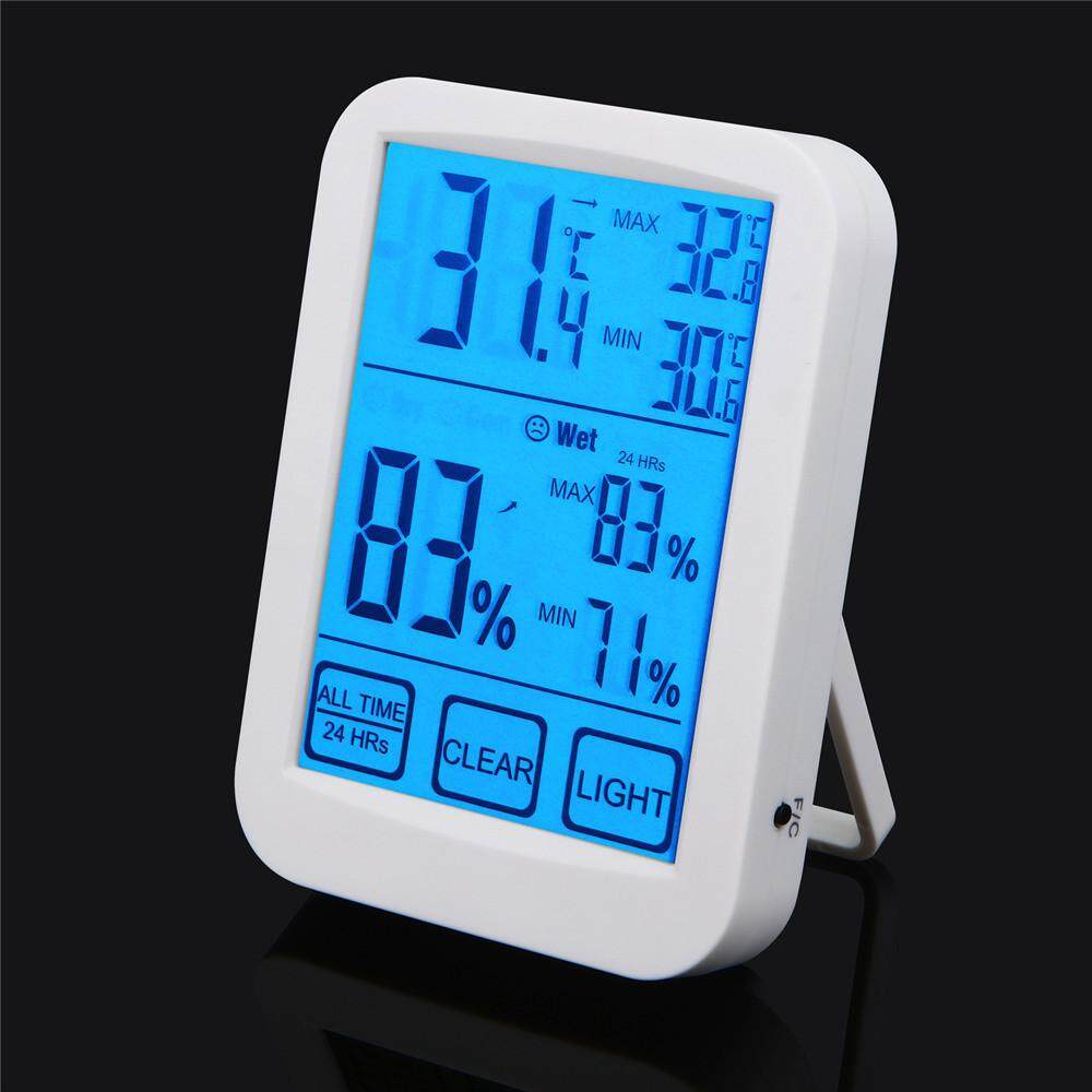 TOMATOLL LED Digital Hygrometer Thermometers Household Office Desktop Display