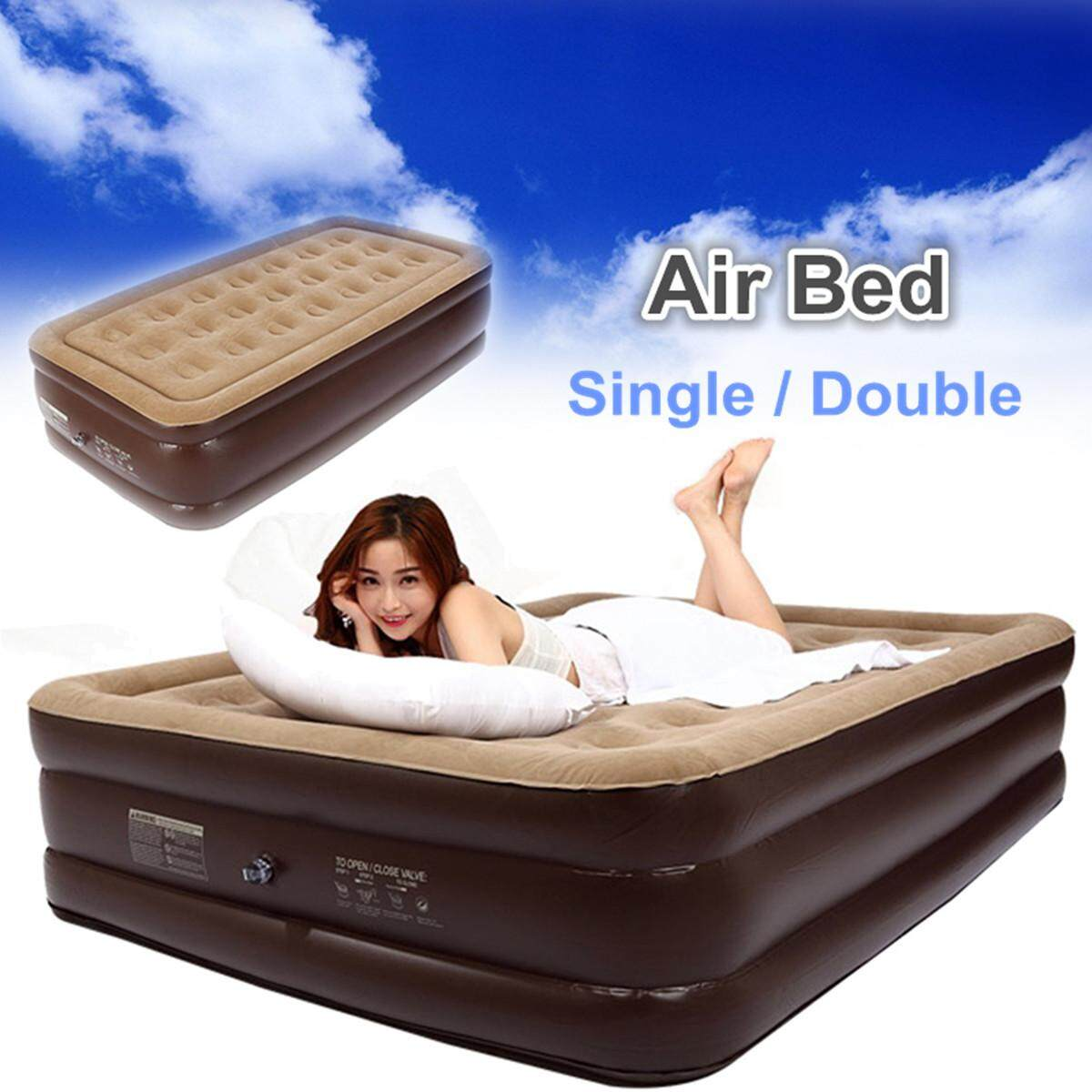 Bestway Air Bed Inflatable Couch Mattress Sleeping Mats Home Single Double Queen  Single By Glimmer.