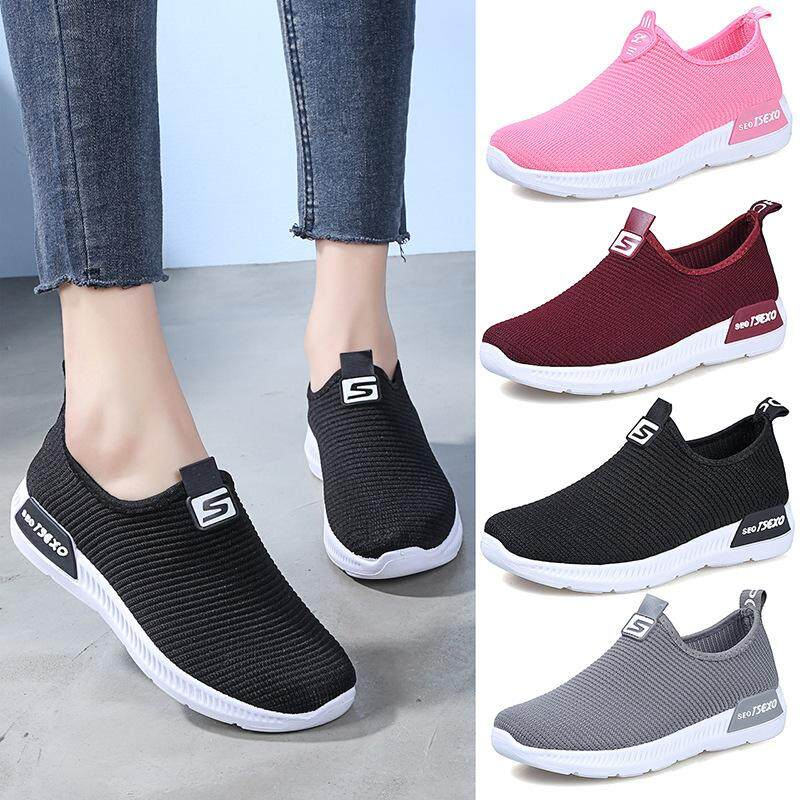 Ladies Fashion Casual Mesh Breathable Joker Sports Flats By Top Store.