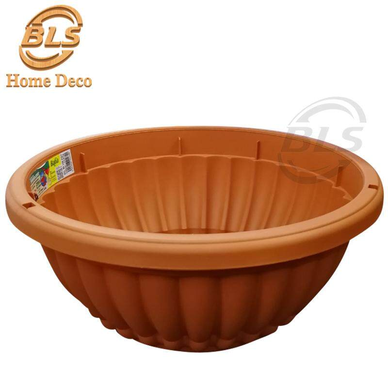 COTTA COLOR DIAMETER 39.7 CM BABA BI-206 SHALLOW PLASTIC POT HOME GARDEN PLANTS
