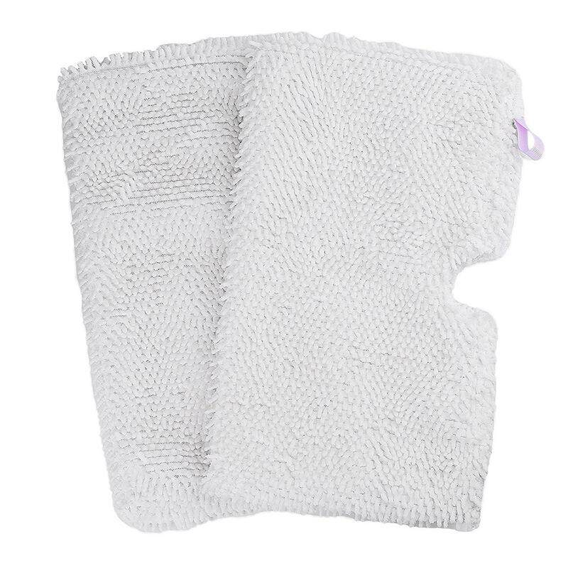 2-Pack Washable Microfiber Mop Pads Cleaning Pads Replacement For Shark Steam Pocket Mops S3500 Series, S3501, S3601, S3550, S3901, S3801, Se450, White By Greatbuy888.