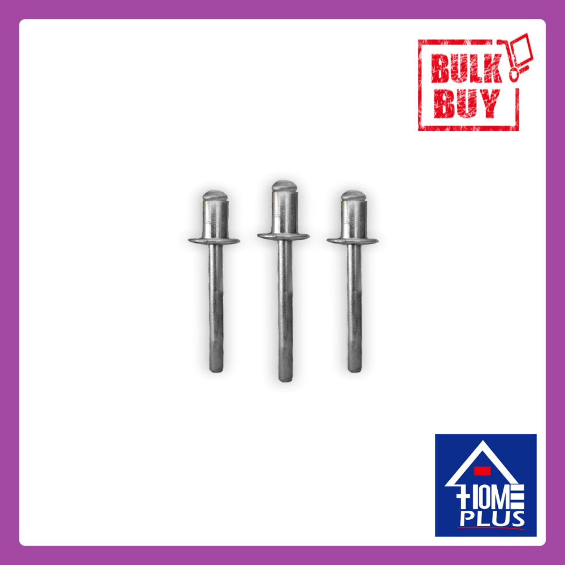 1/8 x 5/16 x 100 Pieces Silver Screw Pin Nail Blind Rivet Home Kitchen Bathroom