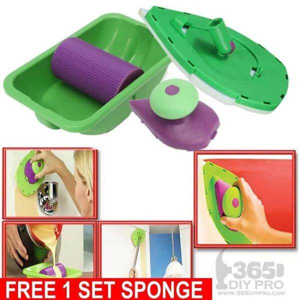 Painting Roller Tray Sponge Set Kit Brush Point n Paint Tools