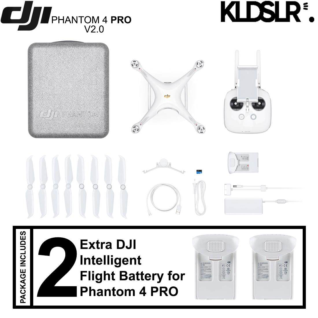 DJI Phantom 4 Pro Version 2.0 Quadcopter (FREE Extra 2 Original Batteries)