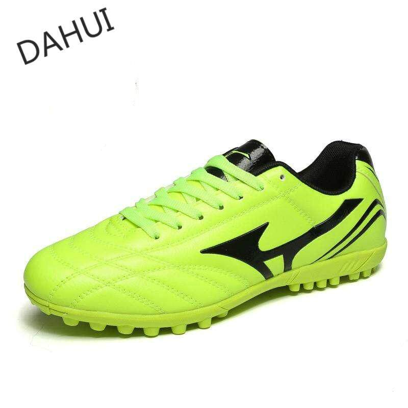 a41c47450 Professional Men Turf Indoor Soccer Shoes Cleats Kids Original Superfly  futsal Football Boots Sneakers (Green