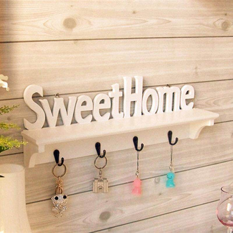 Creative Letter Hook Wall Hanging Finishing Key Hook Clothes Hook Storage Fashion Wall Hook Wall Decoration Frame White By The Four Seasons Fashion.