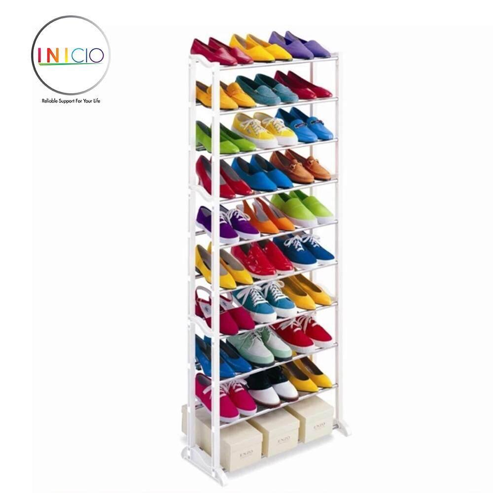 INICIO : Amazing White Shoe Rack 10- Layered