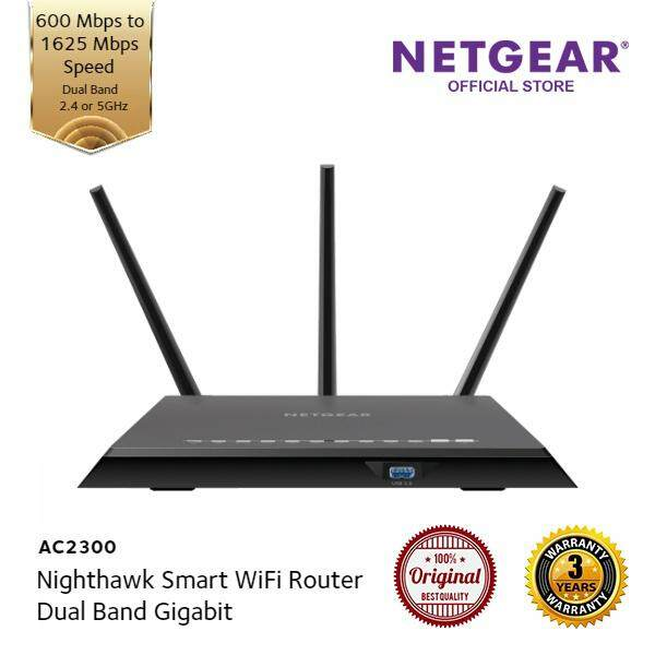 Netgear Nighthawk AC2300 Smart WiFi Router—Dual Band Gigabit - R7000P