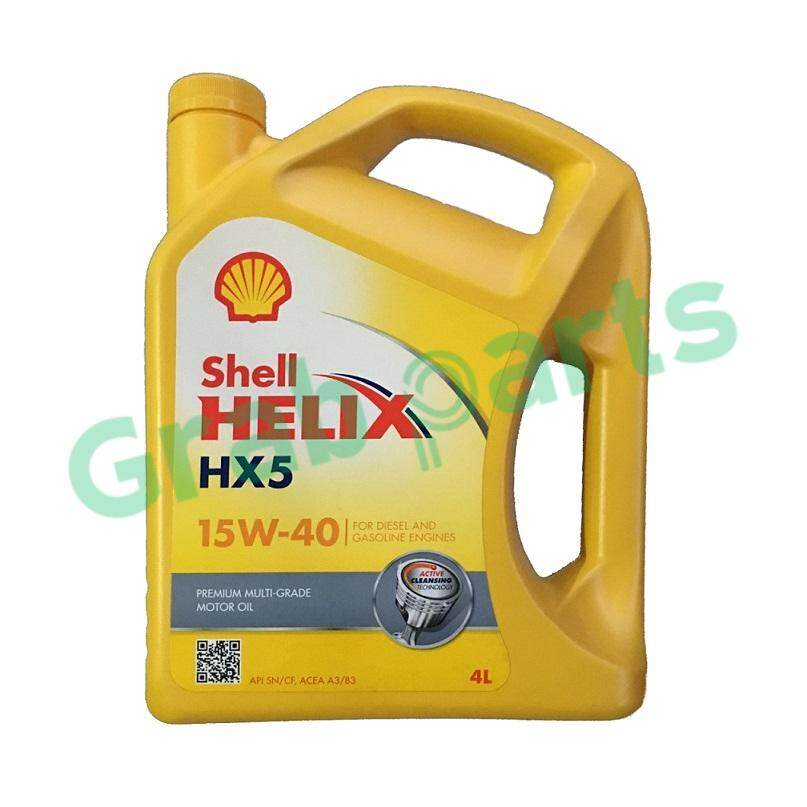 Shell Helix Hx5 15w40 Engine Oil Sn/cf 4litres By Grabparts.