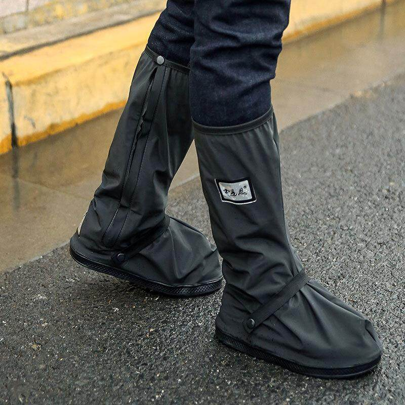 Long Anti-slip Waterproof Rain Boot Shoes Cover Overshoes with Elastic String for Women Men