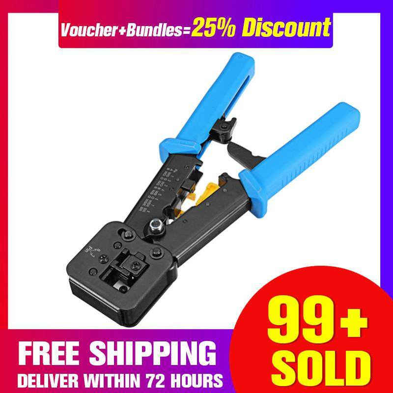 【Free Shipping + Super Deal + Limited Offer】EZ RJ45 RJ11 Cable Cutter Piercing Crystal Head Crimping Cable Stripper Crimping Tools Multi-function 6P 8P Dual-purpose Pliers