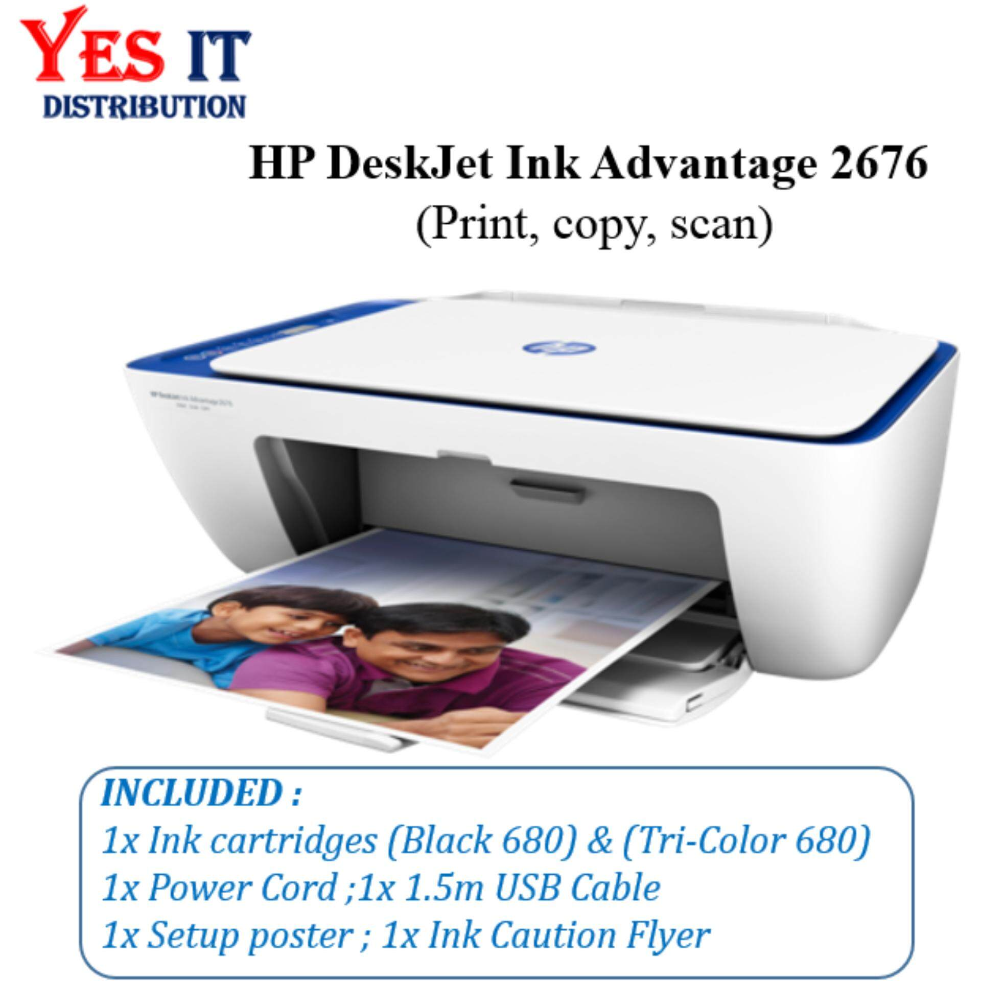 Hp Ink Jet For The Best Prices In Malaysia Tinta 680 Colour Cartridge Original Deskjet Advantage 2676 All One Printer
