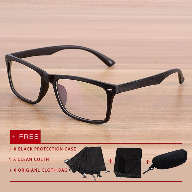 1222fa078ce 2018 New fashion men women eyewear eyeglasses Anti Blue Light Glasses UV Spectacles  flat lens glasses