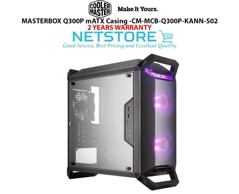 COOLER MASTER MASTERBOX Q300P mATX Dekstop Casing ( with 2 RGB Fan ) CM-MCB-Q300P-KANN-S02 CM MASTERBOX Q300P Malaysia