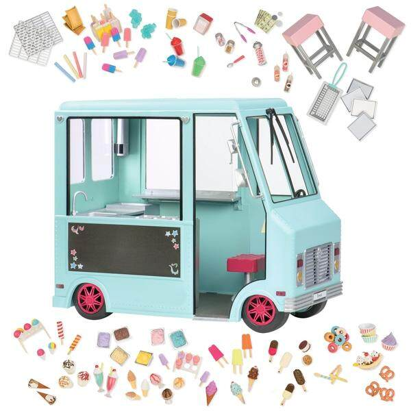 (bd37252z) Our Generation, Sweet Stop Ice Cream Truck By Kidzstore.