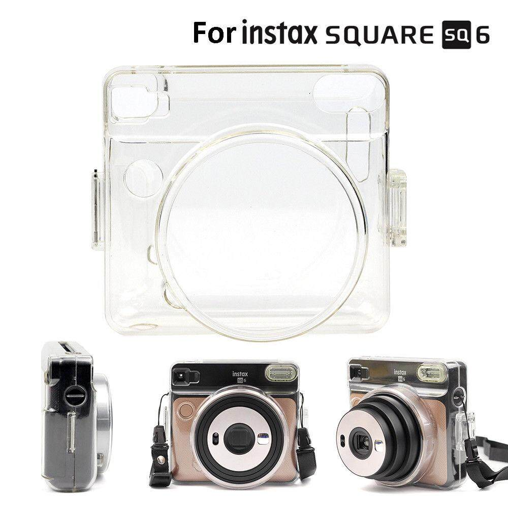 For Fujifilm Instax Square Sq6 Film Instant Camera Clear Crystal Hard Carrying Bag Cover Case Shell Protector By Misuta.