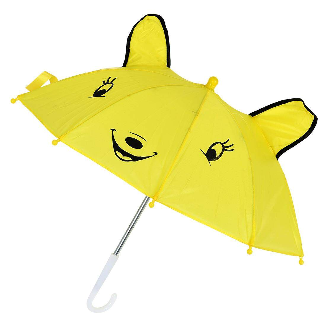 Children Panda Pattern Mini Yellow Umbrella Playing Toy By Tobbehere.