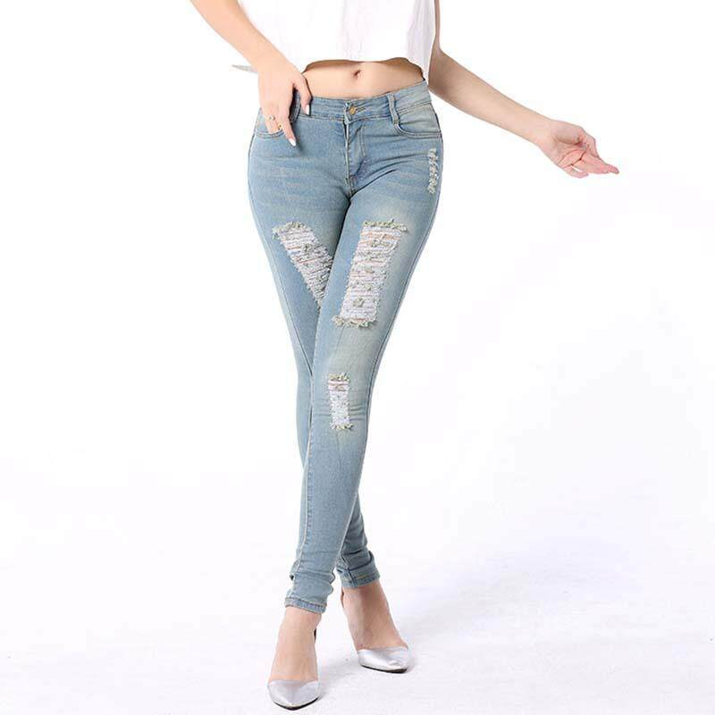d4a75b3dd75 10471 items found in Jeggings. Dailynew Women Jeans High Waist Jeans Plus  Size Stretch Skinny Pencil Pant