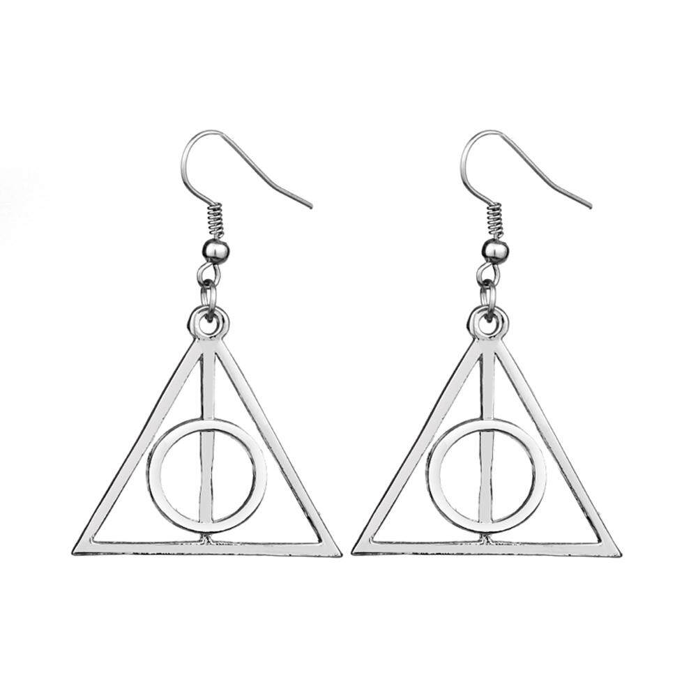 Harry Potter Deathly Hallows Alloy Hmade Dangle Earrings Favor Mystery By Andrewxdi.
