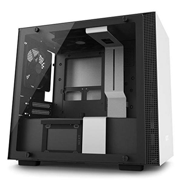 [From.USA]NZXT H200i Mini-ITX Computer Case with Smart Device Matte White/Black (CA-H200W-WB) B0776QQD4Q Malaysia