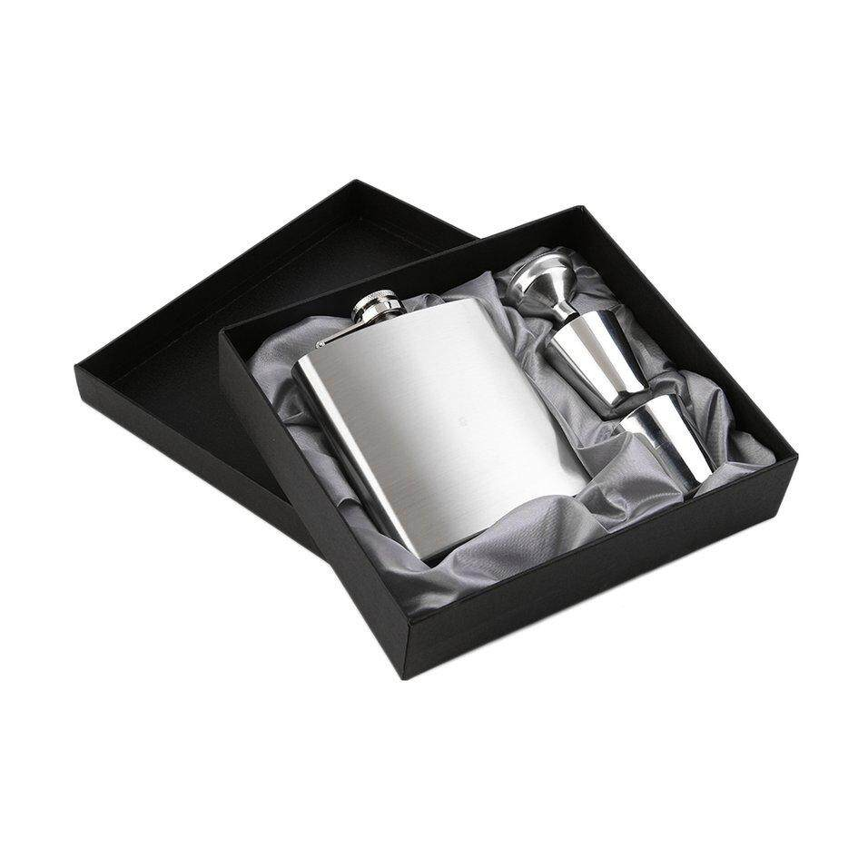 Oh 7oz Stainless Steel Pocket Hip Flask Funnel Cups Set Drink Bottle Gift New By Ohbuybuybuy.