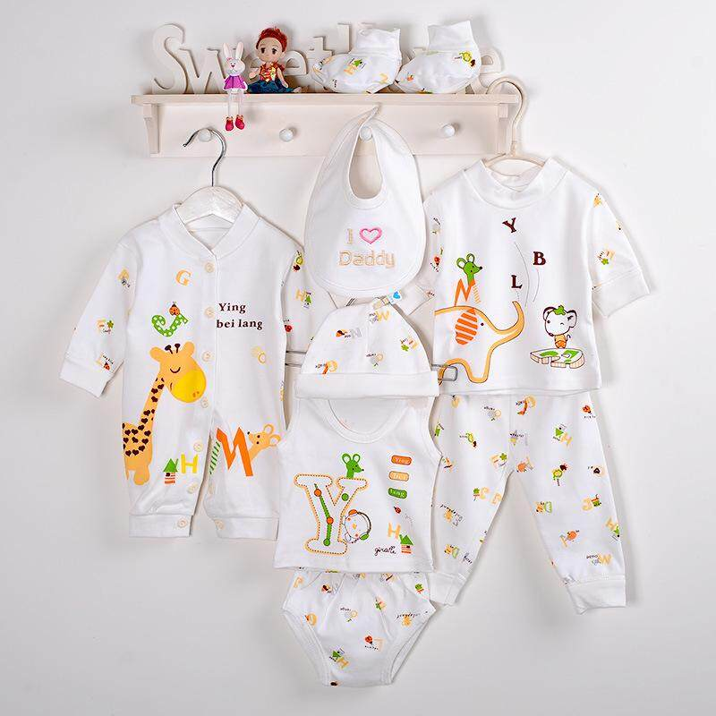 247a4aa61218a 8pcs/lot Baby Girl Clothes Newborn Toddler Infant Cotton baby boy clothes  Rompers Bodysuit Tops