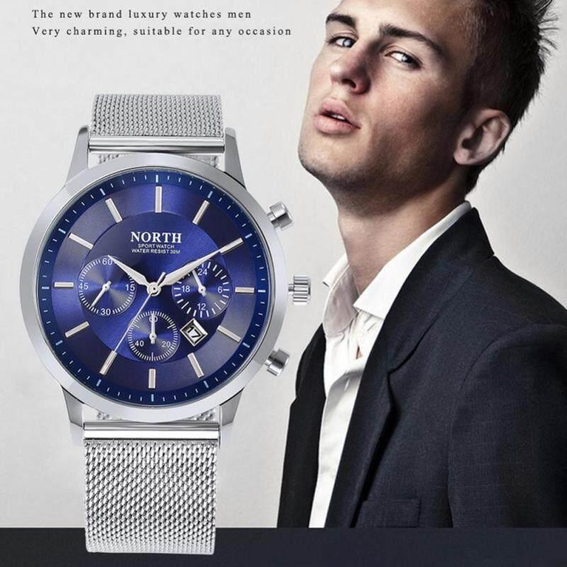 4 Colors Waterproof Men Male Quartz Analog Watch Stainless Steel Mesh Strap Round Wristwatch Malaysia