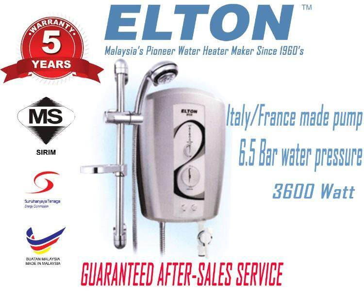 ELTON 5 Years Warraanty SP318 6.5Bar 3600Watt 240V 50/60Hz Electric Instant Water Heater With Italy/France Made Pump