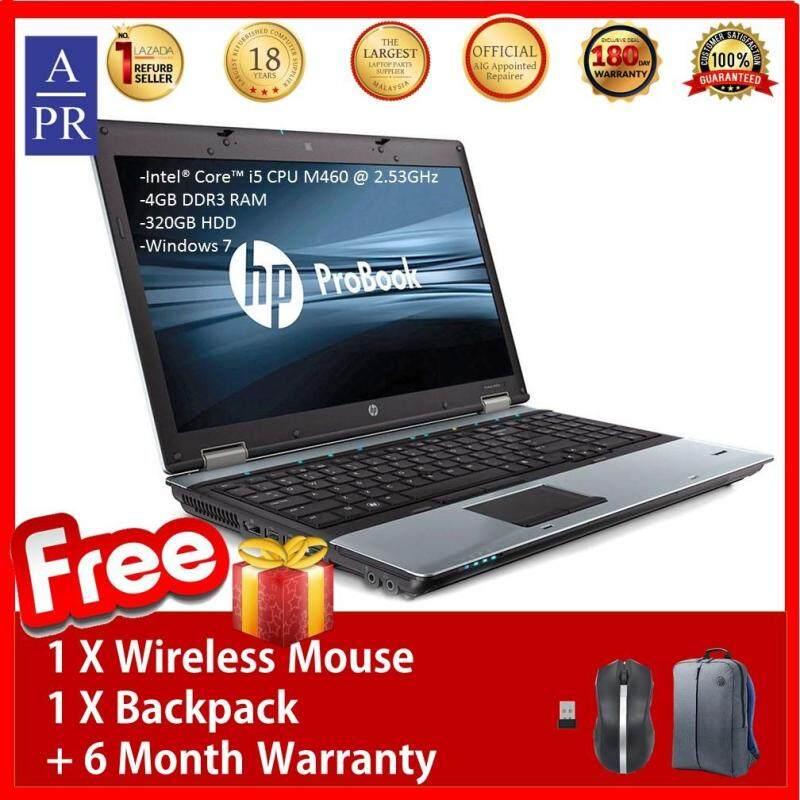 Refurbished HP Probook 6550b Notebook Laptop Intel Core™ i5 CPU M460 @ 2.53GHz 4GB 320GB W7Pro (Limited Stock) + 6 Month Warranty Malaysia