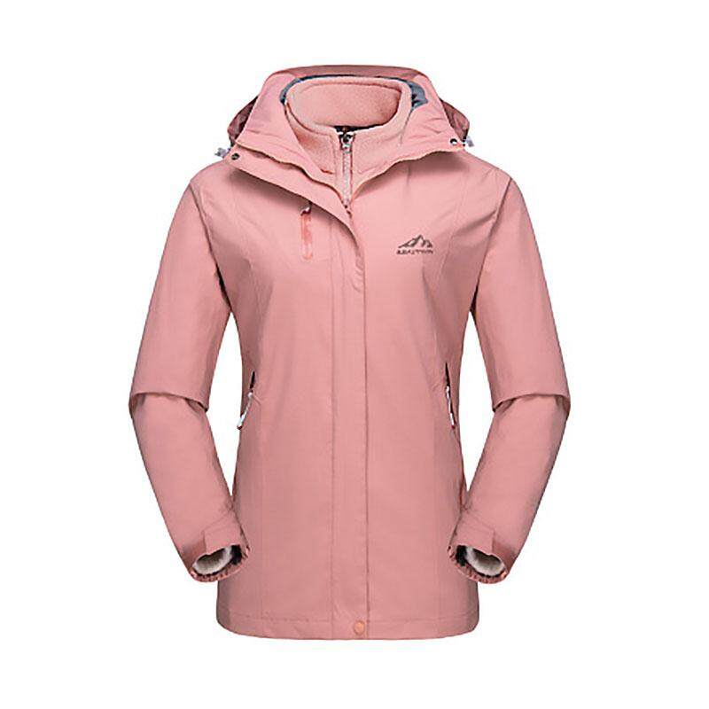 ac52e2d1464b Fashion Women Winter Jacket Outdoor Sports Windproof Waterproof Coat Hooded  Ski Suit Hiking Fishing Snowboard Bomber