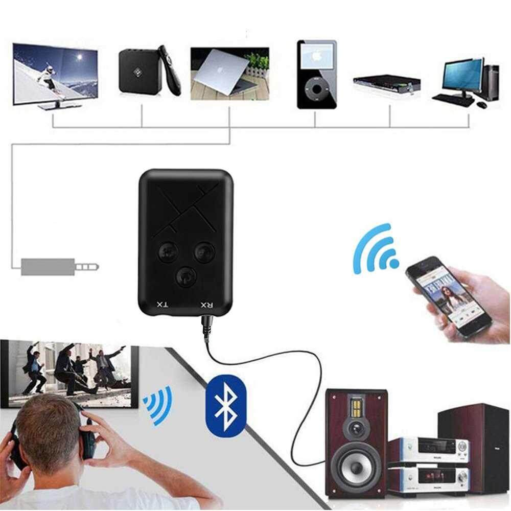 Dongxi Bluetooth Wireless 4.2 Transmitter Receiver Stereo Audio Receiver Music Adapter Support Aux Audio Output By Dongxi.