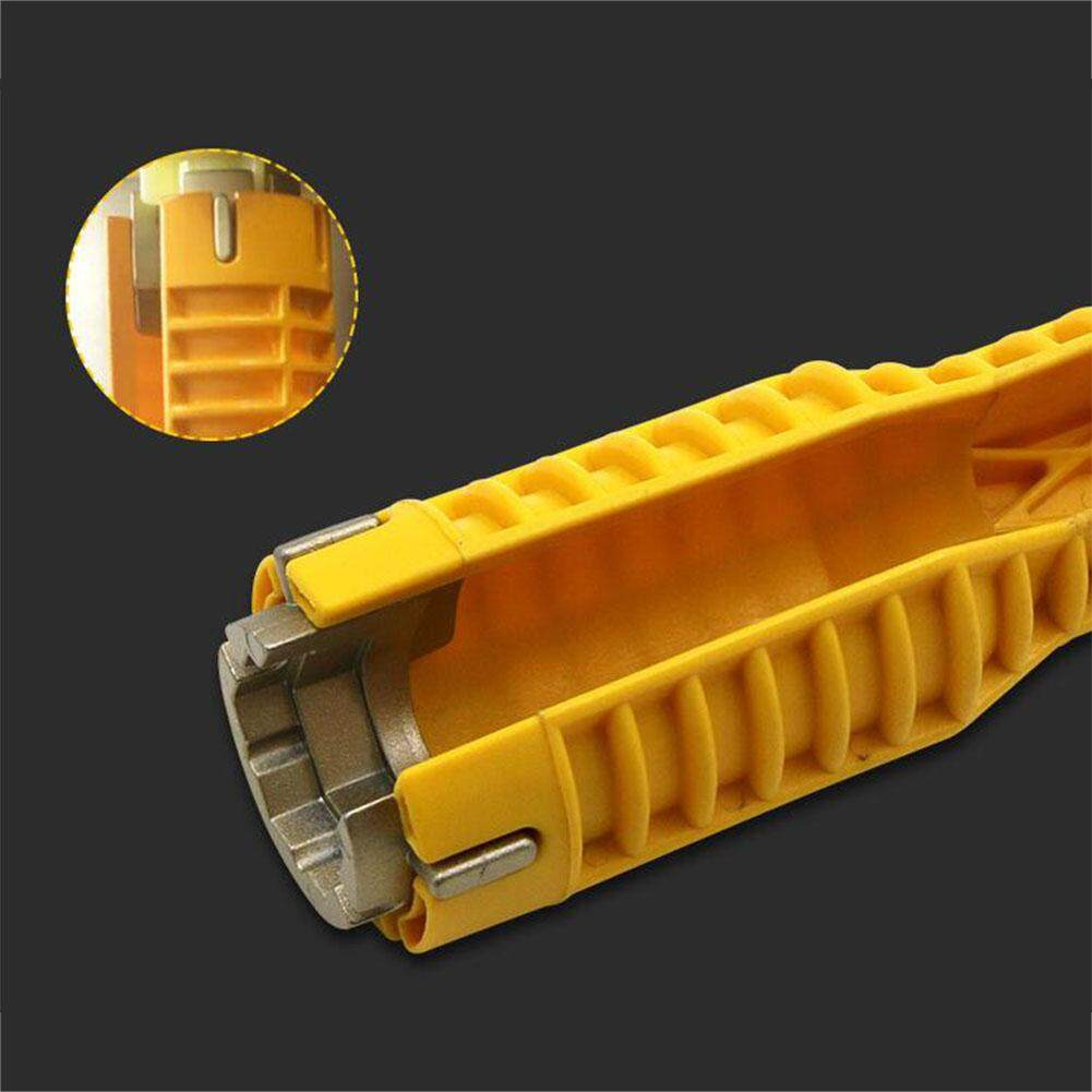 MA Yellow Multi-purpose Wrench Plumbing Tool Faucet&Sink Installer for Toilet Bowl Sink Bathroom Kitchen