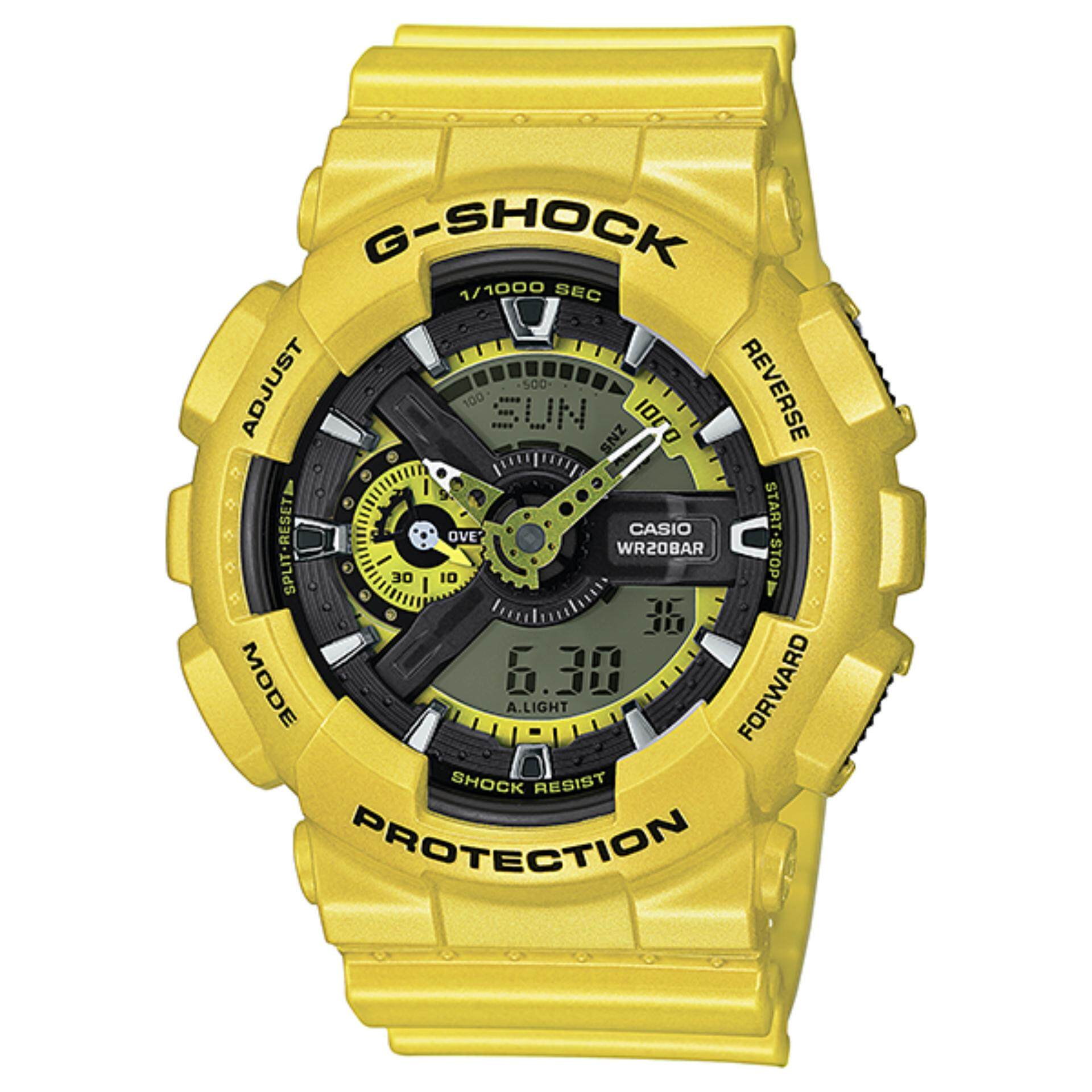 Casio G Shock Mens Yellow Resin Strap Watch Ga 110nm 9a Sales Item Gd 100 1bdr