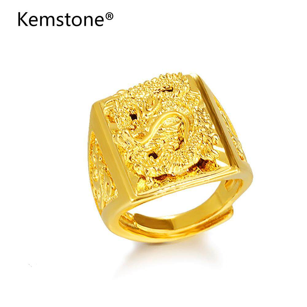 Men Rings Buy At Best Price In Malaysia Gelang Warna Sandirodus Kemstone Domineering Alluvial Gold Adjustable Dragon Fashion Imitation Jewelry Gifts For