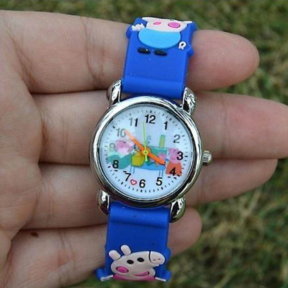 3D Cartoon Lovely Unisex Kids Children Students Anime Quartz Wrist Watch Malaysia