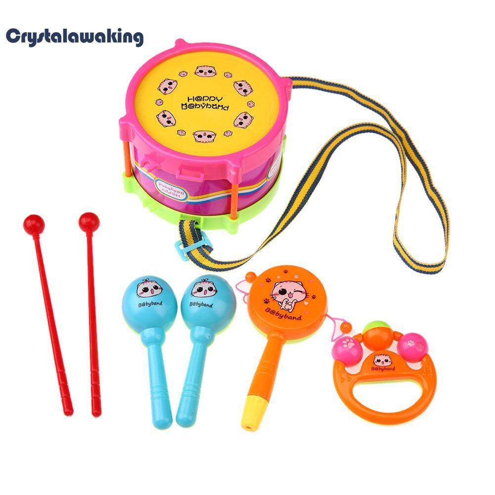 5pcs Kids Toy Set Roll Drum Musical Instrument Band Kit By Crystalawaking.