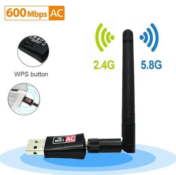 Wireless USB WiFi Adapter AC 600Mbps Dual Band 2.4G/150Mbps+5.8G/