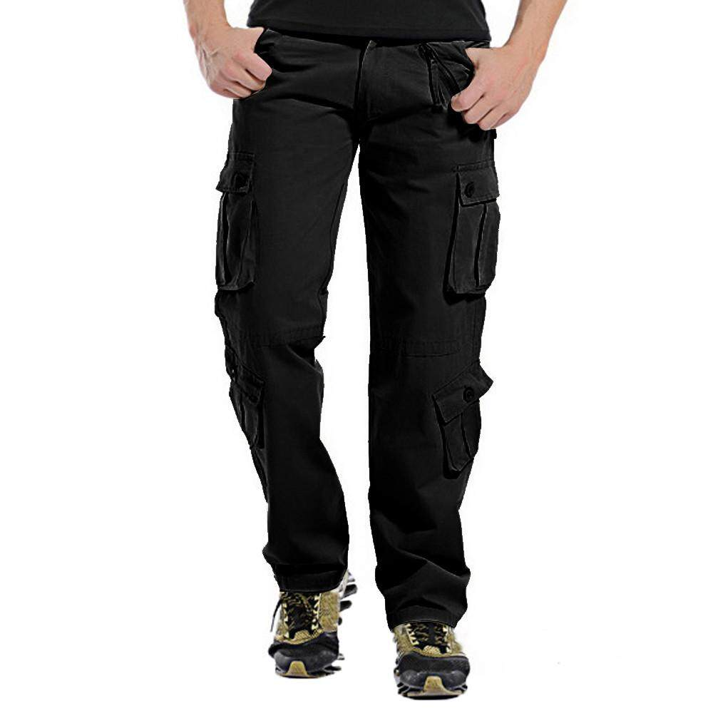 1f1a149b7228 JENESTROTRES Men s Fashion Casual Outdoors Button Multi-pocket Work Trouser  Cargo Long Pants