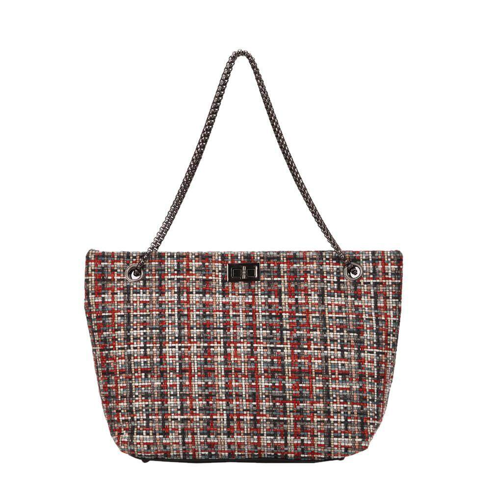 Domybest Fashion Women Tote Chain Twill Handbag Casual Shoulder Top Handle Bag Gift
