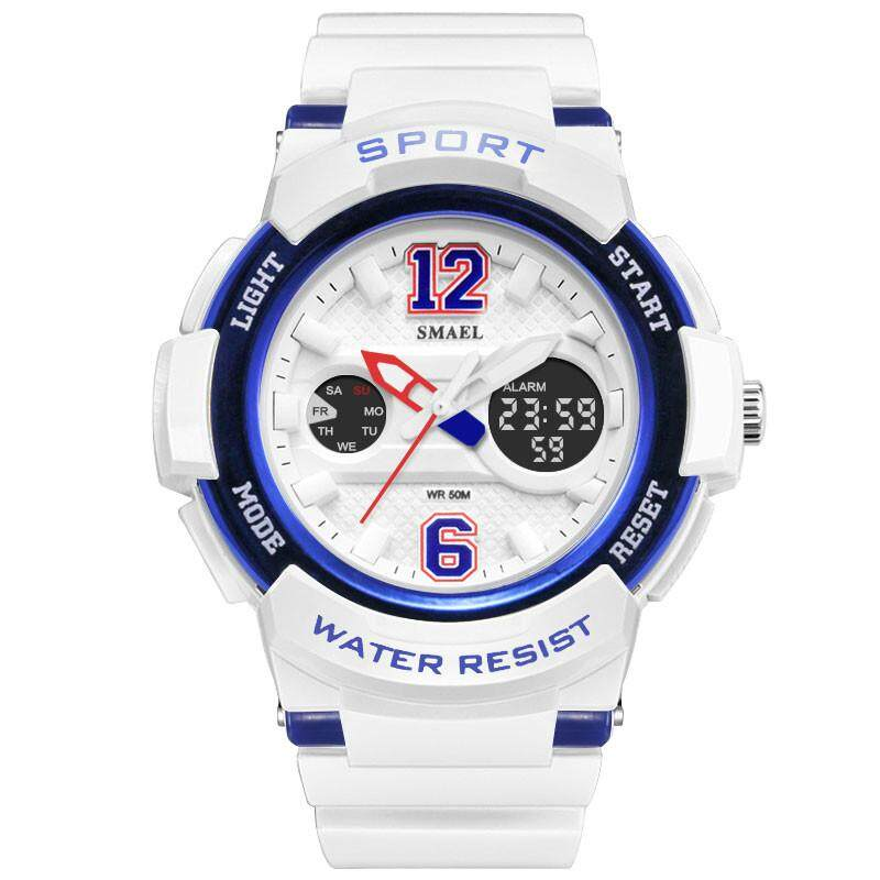 2018 Ladies Watch LED Waterproof Rose Gold White Women Watch Top Brand Quartz Watch Bracelet 1632