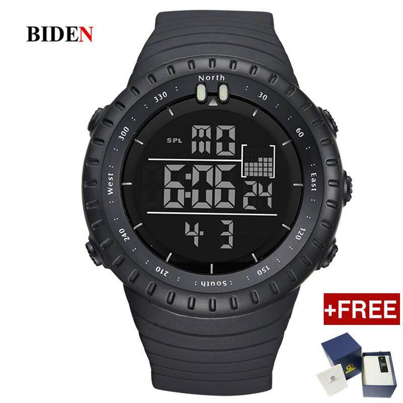 [Free One Original Box] Biden Brand Digital Mens Wristwatches Silicone Sports Man Watches Multifunction Waterproof Calendar Week Male Clocks Malaysia