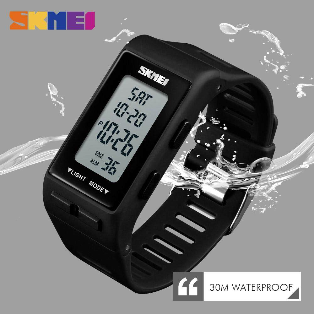 SKMEI New Men Women Sports Watch Stopwatch LED Watches Band Man Fashion Digital Waterproof Wristwatches 1362 Malaysia
