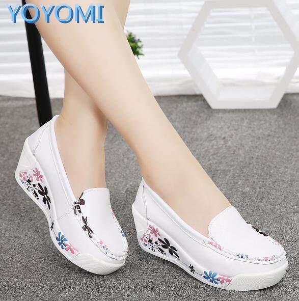 huge selection of 42e0e 6619b YOYOMI Women s Casual Sports Platform Wedge Shoes 5cm Heel Shake Shoes