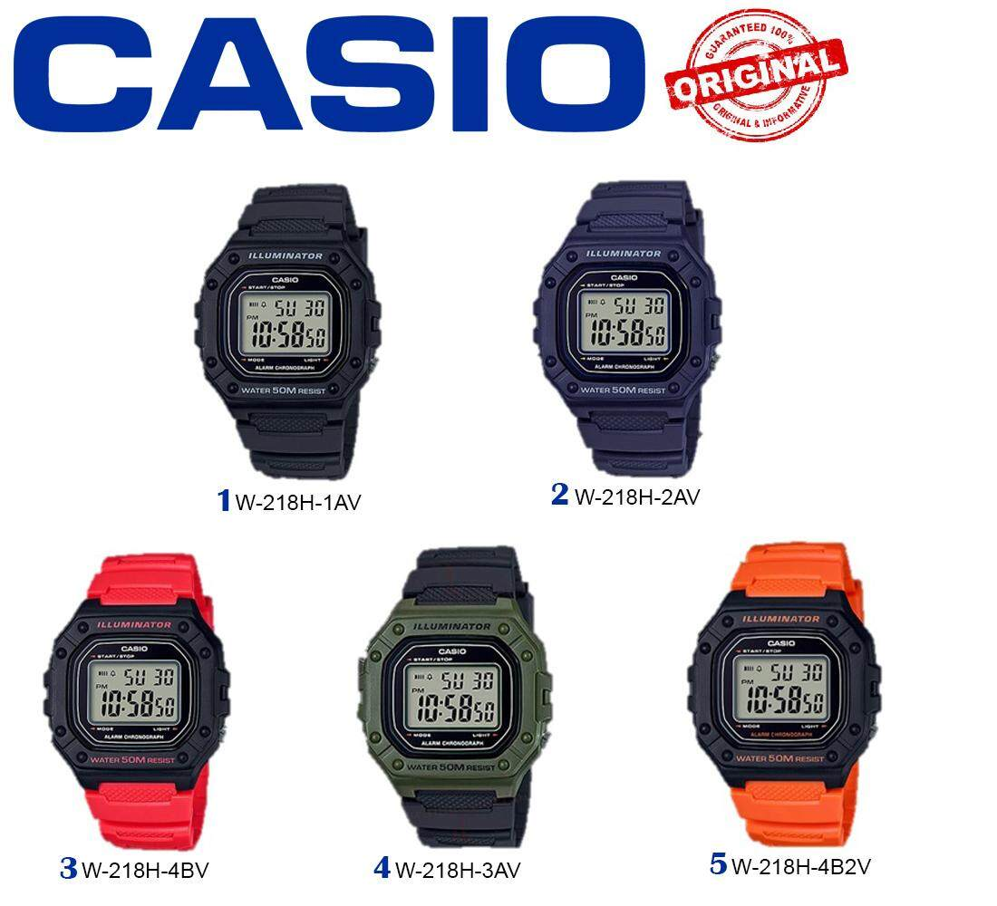 Casio Digital W-218H Malaysia