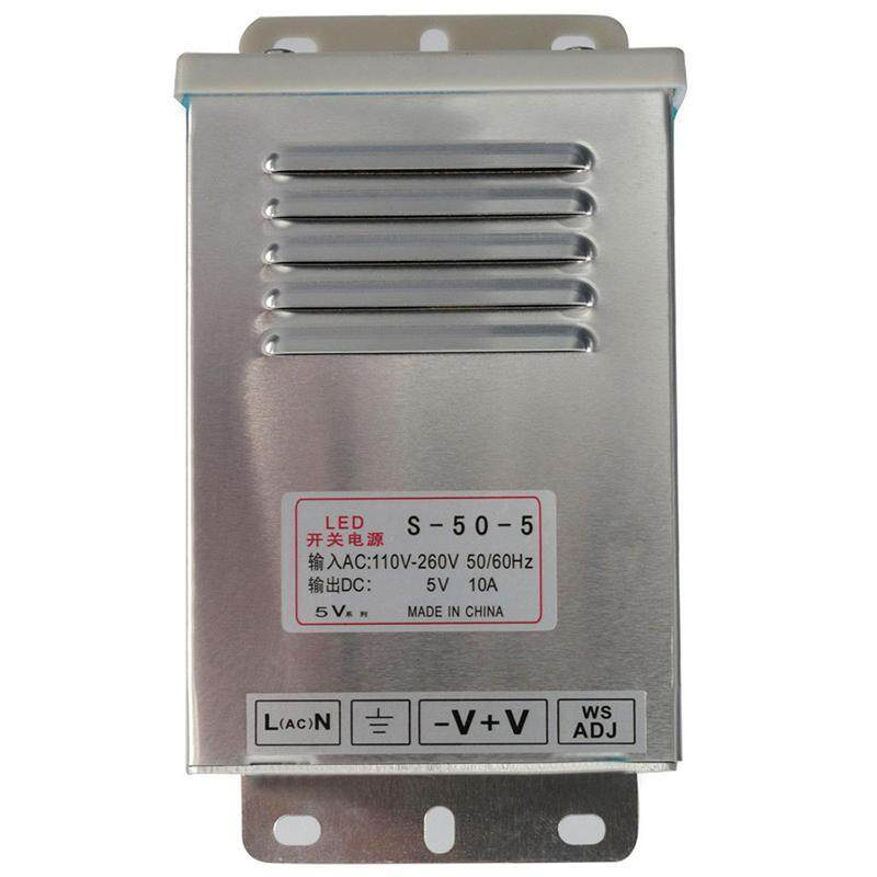 In/Outdoor Switching Power Supply Silver, S-50-5 5V 10A 50W